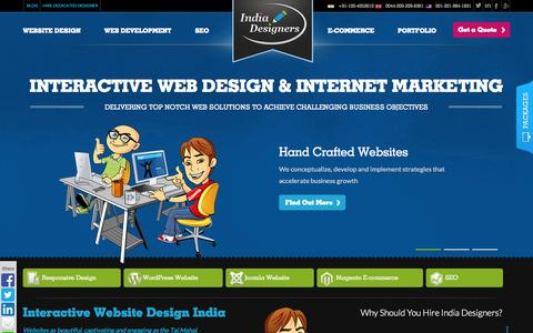 Screenshot of Home Page india-designers.net - Web Design Company India, Web Designers India, Indian Web Designers - captured Sept. 30, 2014