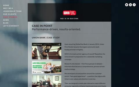 Screenshot of Case Studies Page westcarygroup.com - Case Studies — West Cary Group - captured Oct. 9, 2014