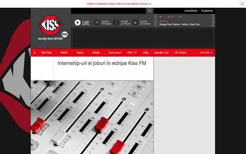 Screenshot of Jobs Page kissfm.ro - KissFM | Internship - captured Sept. 24, 2014