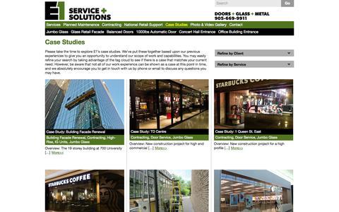 Screenshot of Case Studies Page explore1.ca - Explore1.ca | Case Studies - captured Oct. 1, 2014