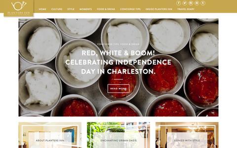 Screenshot of Blog plantersinn.com - Planters Inn – Blog - Planters Inn – Charleston, South Carolina - captured July 14, 2016