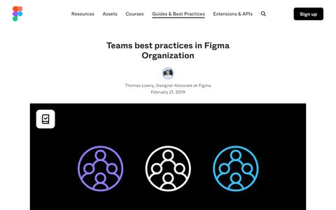 Screenshot of Team Page figma.com - Getting started with teams in Figma Organization - captured Jan. 21, 2020