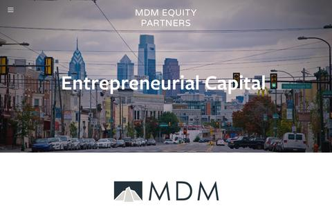 Screenshot of Home Page mdmep.com - MDM Equity Partners - captured June 18, 2015