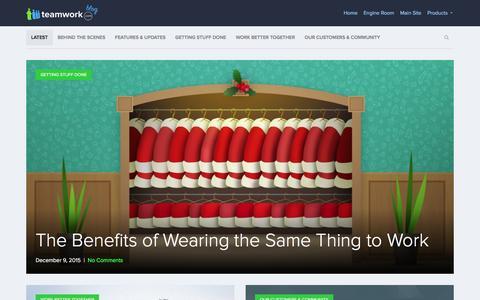 Screenshot of Blog teamwork.com - Teamwork.com Blog  Thoughts from the team behind Teamwork.com - captured Dec. 10, 2015