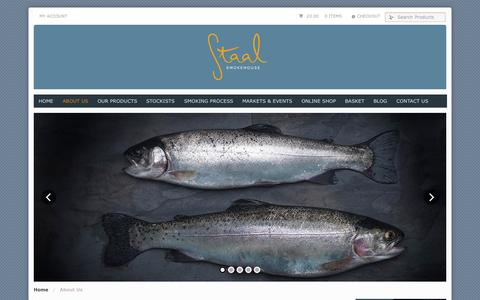 Screenshot of About Page staalsmokehouse.co.uk - About Us | Staal Smokehouse - captured Sept. 30, 2014