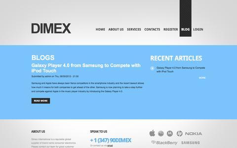 Screenshot of Blog dimexintl.com - Blogs | DIMEX International - captured Oct. 6, 2014