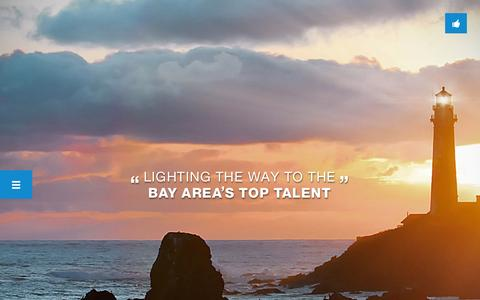 Screenshot of Home Page capeoplesearch.com - California People Search | Lighting the way to the Bay Area's top talent - captured Oct. 1, 2014