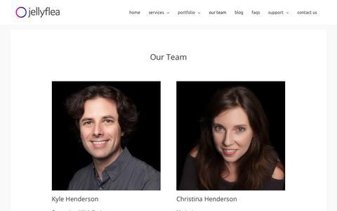 Screenshot of Team Page jellyflea.com - Our Team - JellyFlea Creative - captured June 21, 2019