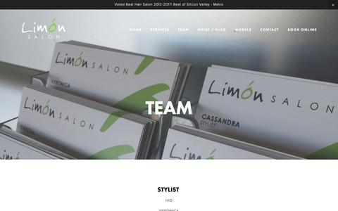 Screenshot of Team Page limonsalon.com - LIMON SALON  — TEAM - captured May 19, 2017