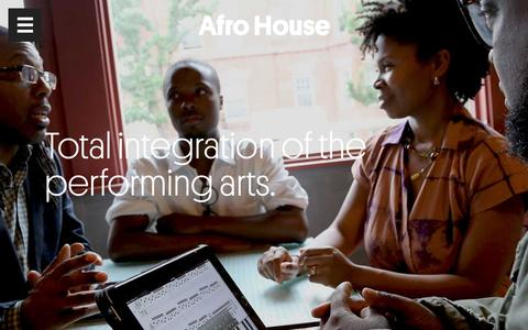 Screenshot of About Page afrohouse.org - Afro House | About Afro House | Total Integration of the Performing Arts - captured March 8, 2016