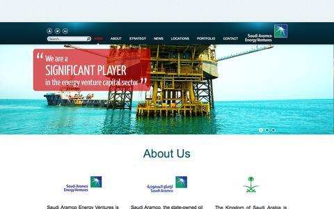 Screenshot of Locations Page aramcoventures.com - Saudi Aramco Energy Ventures LLC - Corporate Venturing Subsidiary of Saudi Aramco, Saudi Arabia - captured Nov. 4, 2014