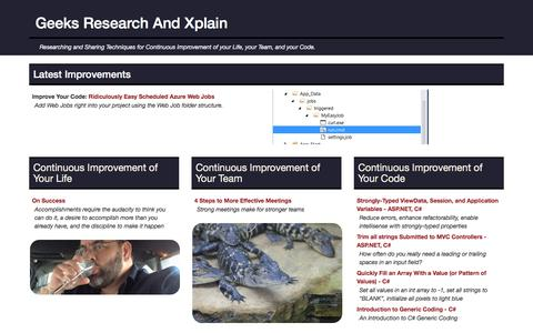 Screenshot of Home Page grax.com - Geeks Research And Xplain - captured Dec. 11, 2016