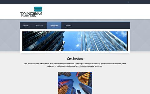 Screenshot of Services Page tandem.lu - Services - Blank Title - captured Oct. 7, 2014