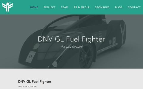 Screenshot of Home Page fuel-fighter.com - DNV GL Fuel Fighter - captured June 16, 2016