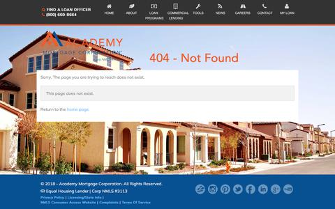 404 - Not Found - Academy Mortgage Corporation