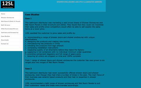 Screenshot of Case Studies Page twelvesourcing.com - Shower Doors  Duschabtrennungen, Twelve Sourcing Limited Case Studies - captured Oct. 24, 2017