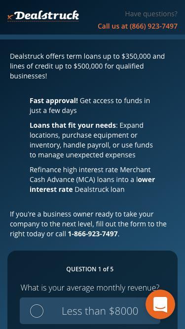 Business Loan-Bing - Dealstruck