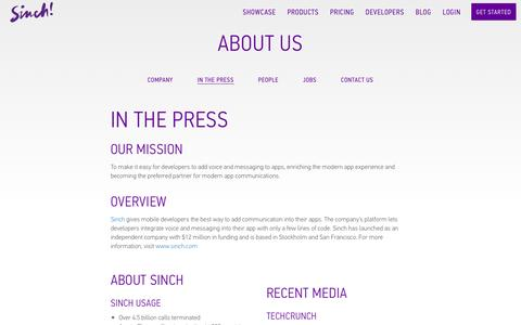 In the Press | Sinch