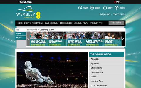 Screenshot of Contact Page wembleystadium.com - Contact Us | Wembley Stadium - captured Sept. 24, 2014
