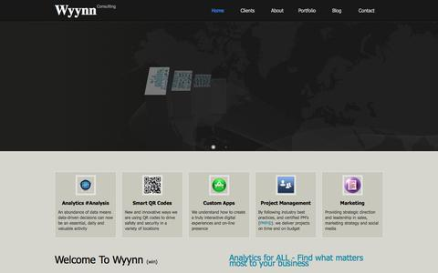 Screenshot of Home Page Site Map Page wyynn.com - Wyynn | Analytics | #Analysis - captured Feb. 26, 2016