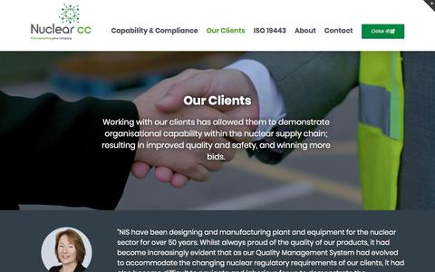 Screenshot of Case Studies Page nuclearcc.co.uk - Our Clients | Nuclear cc - captured Sept. 21, 2018