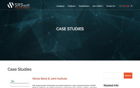 Screenshot of Case Studies Page srssoft.com - Case Studies - SRS Software - captured April 20, 2016