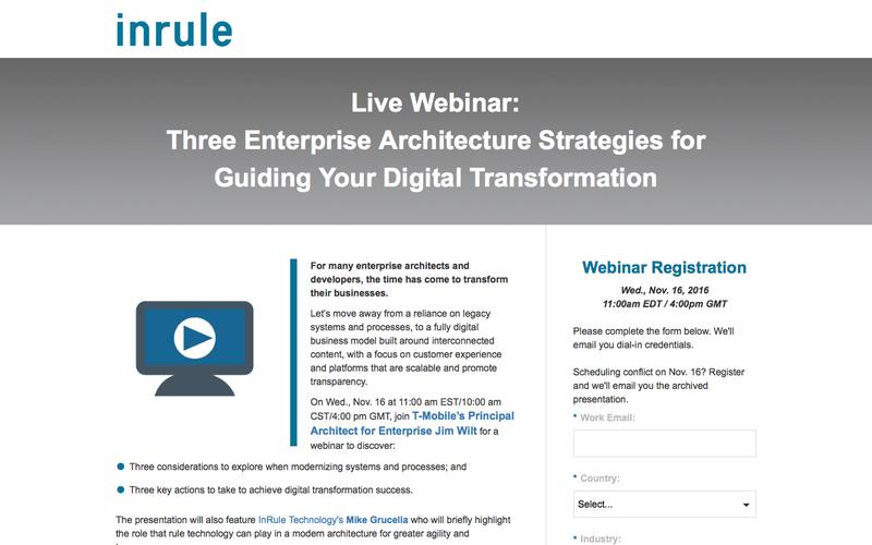 Live Webinar - Three Enterprise Architecture Strategies for Guiding Your Digital Transformation
