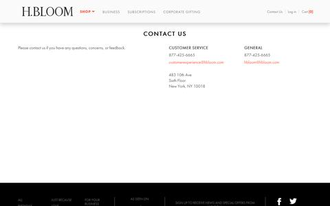 Contact Us  | H.BLOOM