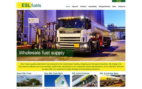 Screenshot of Home Page eslfuels.com - Welcome to ESL Fuels | ESL Fuels - captured Sept. 26, 2014