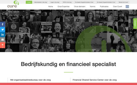 Screenshot of Contact Page cure4.nl - Over Cure4 - Dé Consultancy & Finance specialist in de zorgCure4 - captured Dec. 8, 2018