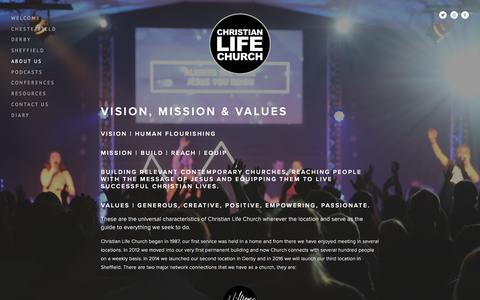Screenshot of About Page lifechurch.org.uk - About Us — Christian Life Church - captured Nov. 5, 2016