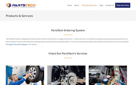 Screenshot of Services Page partstech.com - Products & Services – PartsTech - captured May 15, 2017