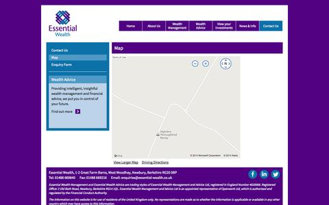 Screenshot of Maps & Directions Page essential-wealth.co.uk - Map | Essential Wealth - captured Oct. 3, 2014