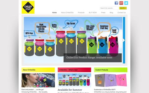 Screenshot of Home Page chiller2go.com.au - Fruit Bags/Totes Chill and Protect your Fruit on the go - Chiller2go - captured Oct. 2, 2014