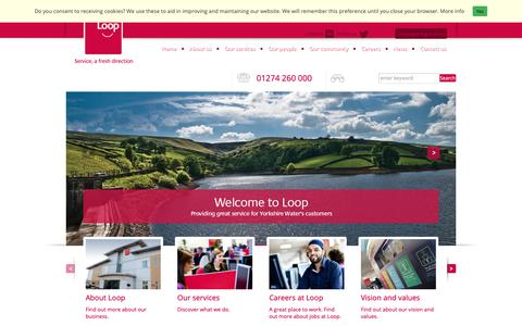 Screenshot of Home Page loop.co.uk - Loop Customer Management - Loop Customer Management - captured Sept. 30, 2018