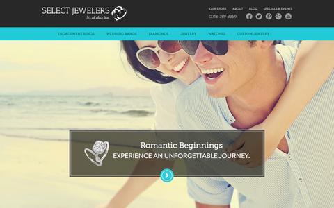 Screenshot of Home Page selectjewelers.com - Select Jewelers | Houston Jewelers Home - captured Aug. 2, 2015