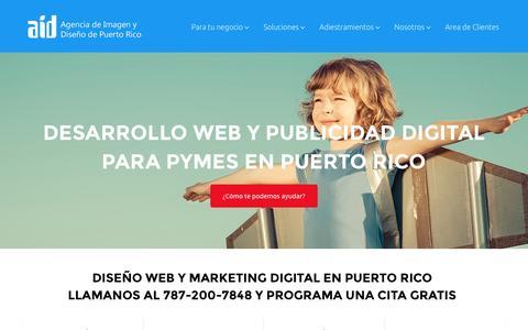 Screenshot of Home Page aidpr.com - AIDPR - Agencia de Imagen y Diseño de Puerto Rico - - captured Feb. 5, 2016