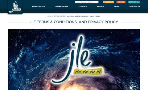 Screenshot of Terms Page jle.org.uk - JLE ::  JLE Terms & Conditions, and Privacy Policy. - captured Oct. 2, 2018