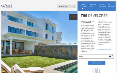 Screenshot of Developers Page azuri.mu - The Developer - Azuri Portal - captured Sept. 20, 2016