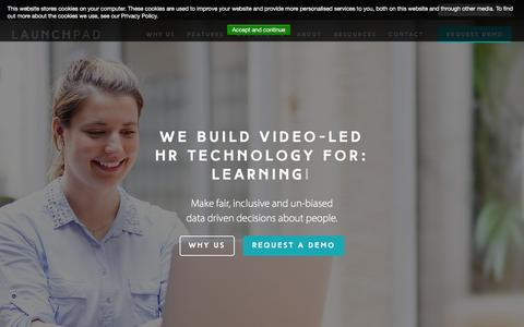 Screenshot of Home Page launchpadrecruits.com - Video Interviewing Software from LaunchPad - captured Dec. 7, 2015