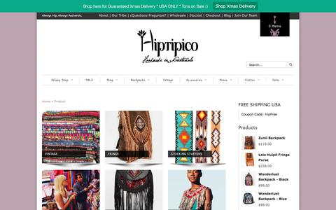 Screenshot of Products Page hiptipico.com - Products   Hiptipico - captured Dec. 10, 2015