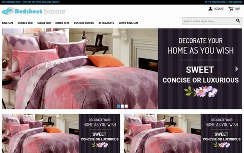 Screenshot of Home Page About Page Privacy Page Press Page Terms Page bedsheetbazaar.com - Exclusive Collection of Bedsheets, Diwan sets, Cushion Covers, Blankets and lots more - captured Dec. 2, 2016