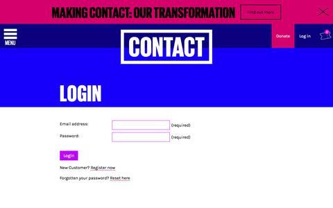Screenshot of Login Page contactmcr.com - My Account - Contact - captured Aug. 27, 2017