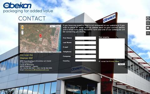 Screenshot of Contact Page obeikanmdf.com - Contact - captured Oct. 7, 2014