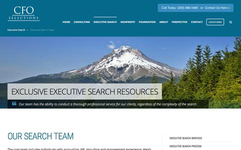 Screenshot of Team Page cfoselections.com - Our Executive Search Team - captured July 14, 2018