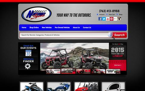 Screenshot of Home Page northwaysports.com - Polaris, Victory, Kawasaki, GEM | ATVs, Side x Sides, Snowmobiles, Motorcycles | Northway Sports East Bethel, MN (763) 413-8988 - captured Sept. 30, 2014