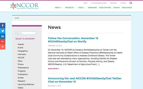 Screenshot of Press Page nccor.org captured Nov. 29, 2016