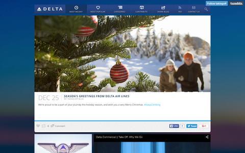 Screenshot of Blog delta.com - TAKING OFF  — Most Recent - captured Dec. 26, 2015