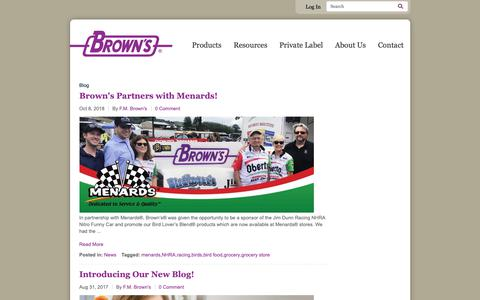 Screenshot of Blog fmbrown.com - Blog | F.M. Brown's - captured Nov. 9, 2018