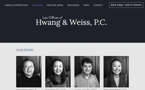 Screenshot of Team Page hwangweiss.com - attorneys — Law offices of Hwang & Weiss - captured Sept. 27, 2018